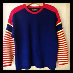 Vintage ski sweater - the coolest thing to wear at a campfire!  $50