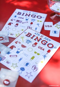 Printable July 4 Bingo Game from MichaelsMakers Lia Griffith