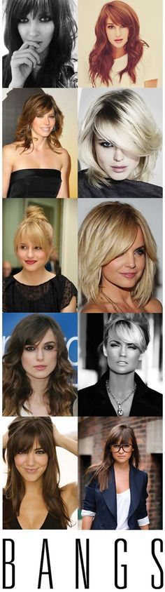Bored of your ordinary hair styles? Your recent hair style doesn't suit you much? Alright then, time to know your face shape, be your own style dictator and add some cool bangs to spice up your look. - #haircuts