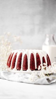 This is the BEST red velvet bundt cake recipe.if not the best red velvet cake recipe. It's incredibly moist and coated in a silky cream cheese glaze. Red Velvet Bundt Cake, Best Red Velvet Cake, Red Cake, Red Velvet Pound Cake Recipe, Cupcakes, Cupcake Cakes, Bundt Cakes, Donuts, Cake Recipes