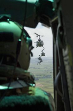 Bell UH-1 Hueys over Vietnam