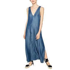 =>quality productwomem sexy V-neck blue denim maxi dress backless side split sleeveless ladies summer casual long dresses vestidos QZ2550womem sexy V-neck blue denim maxi dress backless side split sleeveless ladies summer casual long dresses vestidos QZ2550This Deals...Cleck Hot Deals >>> http://id612589403.cloudns.pointto.us/32693162570.html images