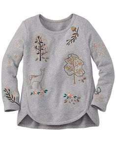 3c221374432 Embroidered Linnea Sweatshirt from  HannaAndersson. Kind Mode