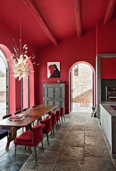 Fall 2016 2017 Color Trends According To Pantone: Aurora Red | Interior Design Inspiration. Decorating Ideas. #colors #interiordesign #pantone Read more: https://www.brabbu.com/en/inspiration-and-ideas/trends/fall-winter-2016-2017-color-trends-according-pantone