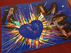 Interactive prayer station - melted crayons.  Another creative idea from the blog of Rev. Theresa Cho