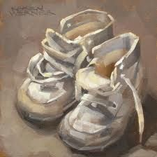 paintings of childrens shoes - Google Search