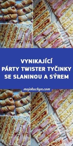Vynikající párty TWISTER tyčinky se slaninou a sýrem Beef, Party, Food, Meat, Essen, Parties, Meals, Yemek, Eten