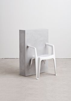 Half Concrete Chair | Concrete | Material | Pinterest