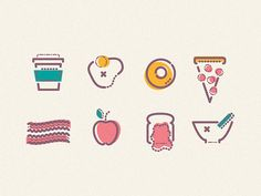 Dribbble - Breakfast by James Oconnell