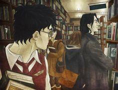 Severus Snape and Harry Potter. all th. Harry Potter Movie Posters, Harry Potter Comics, Harry Potter Severus Snape, Severus Rogue, Harry Potter Films, Harry Potter Ships, Harry Potter Anime, Harry Potter Fan Art, Slytherin