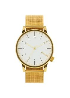 Komono Horloge Winston Royale Gold-White KOM-W2358