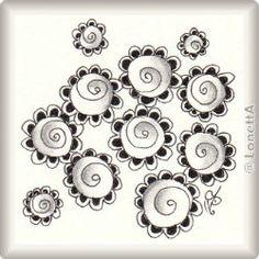 Zentangle-Pattern 'Sooflowers' by Livia Chua , presented by www.musterquelle.de