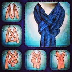 SCARF TUTE, EASY!  Time to bundle up in style!