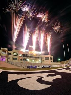 Fireworks at Bill Snyder Family Stadium - MKS Web Design Kansas State University, Kansas State Wildcats, Bill Snyder, I Know A Place, Hometown Heroes, Home Team, All Things Purple, The Places Youll Go, Cool Pictures