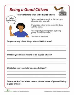 Worksheets: How to be a Good Citizen
