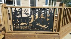 Wildlife+railing+insert+Deck+Big+Buck++-+Kodiak+Metal+Works,+Deck,+Porch+#KodiakMetalWorks