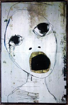 affiche / poster / sur masonite / 074 / door tetedecaboche1965, $30.00