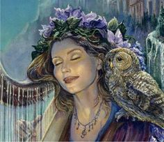 """Minerva's Melody"" by Josephine Wall Josephine Wall, Cross Stitch Books, Cross Stitch Art, Cross Stitch Embroidery, Celtic Dragon, Celtic Art, Art Expo, Islamic Art Calligraphy, Calligraphy Alphabet"