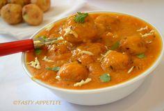 malai kofta recipe from tasty appetite Veg Recipes, Easy Chicken Recipes, Easy Dinner Recipes, Indian Food Recipes, Vegetarian Recipes, Easy Meals, Cooking Recipes, Healthy Recipes, Ethnic Recipes