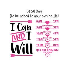 Excited to share the latest addition to my shop: Motivational Water Bottle Decal, Water Tracker Decal, I Can and I Will Water Bottle Tracker and Design, Decal Only Water Bottle Tracker, 20 Oz Water Bottle, Water Tumbler, Cute Water Bottles, Water Bottle Design, Plastic Bottle, Tumbler Cups, Cricut Craft Room, Cricut Vinyl