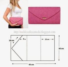 New sewing purses clutch handbags Ideas Diy Clutch, Diy Purse, Clutch Purse, Pochette Diy, Leather Bag Pattern, Clutch Bag Pattern, Leather Clutch, Diy Handbag, Purse Patterns