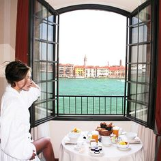 Breakfast with a Venice view!