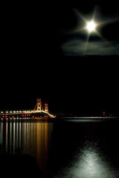 Mackinac at Midnight.Amazing photo! There is a lot of photos of the Big Mac, this one puts it in a different perspective.