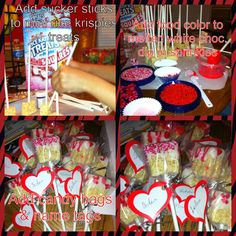 Easy Valentine's treats your kids can help make. My son had fun helping make these for his class last year...