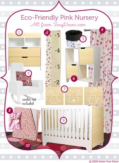 Green Rooms in a Box Series: Girl's Eco-Nursery from Tiny Decor (  Giveaway)