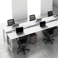 Estação de Trabalho Aluminium para espaços contemporâneos que valorizam a interatividade das pessoas. by RS Design