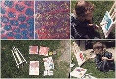 3 years kids activity painting outside inspiration
