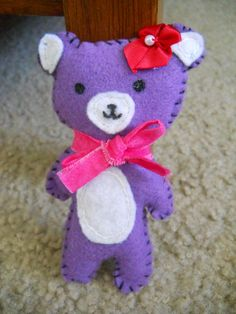 A bear plush I made