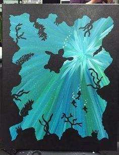 Sea Turtle Painting by craftADDchick