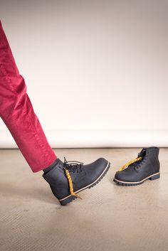 Ботинки AFFEX «Moscow» на меху чёрного цвета, вид на модели - эксклюзивно от Неповторимых