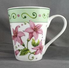 I. Godinger & Co. Coffee/Tea Mug - 12 oz -  White w/Pink Flowers Floral Cup #IGodinger #Spring