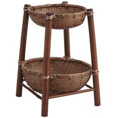Bamboo 2-Tier Bowl by Pier 1 Imports - Found on HeartThis.com @HeartThis   See item http://www.heartthis.com/product/279512206331975750?cid=pinterest