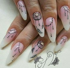 Here is Dream Catcher Nail Designs Gallery for you. Dream Catcher Nail Designs 33 ideas with dream catcher nail art my sty. Cute Acrylic Nails, Acrylic Nail Designs, Cute Nails, Pretty Nails, Nail Art Designs, My Nails, Nails Inc, Perfect Nails, Gorgeous Nails