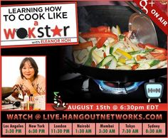 A friend is hosting a free wok cooking class live on a Google+ Hangout. Should be fun!