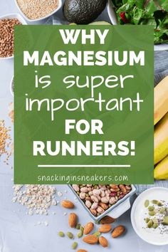 A running tip that sometimes goes overlooked is making sure you've got a healthy diet to support your exercise plan. One nutrient you may want to look at in your runners diet? Magnesium! Learn more about magnesium benefits and it's role in the body, and find food sources and supplement recommendations to support your running plan. (sponsored) Runners Diet Plan, Runner Diet, Runners Food, Nutrition For Runners, Natural Metabolism Boosters, Magnesium Benefits, Find Food, Running Plan, Usda Food
