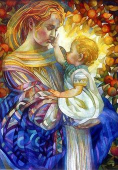 """coeur-de-marie: """" """"Mary, give me your Heart: so beautiful, so pure, so immaculate; your heart so full of love and humility that I may be able to receive Jesus in the Bread of Life and love him as you love him and serve him in the distressing guise. Madonna Art, Madonna And Child, Blessed Mother Mary, Divine Mother, Religious Icons, Religious Art, Madona, Queen Of Heaven, Mama Mary"""