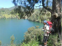 My man at Ranukumbolo lake, Semeru mountain the highest mountain in Java Island Indonesia My Man, Java, National Parks, Mountain, Island, Adventure, Block Island, Islands, Adventure Game