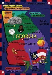 Map Of Georgia For Kids.15 Best Social Studies Geographic Understandings Map Globe Skills