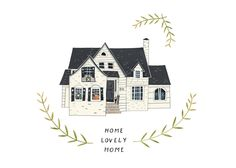 Illustrated House By   I So Want One Done Of Our House! House To HomeHouse  ...