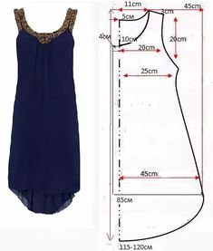 Ropa veraniega: ideas y patrones Un vestido perfecto para el verano DIY - Sommer Mode Simple dress Embroidery on neck and armhole – Woman's Portal free printable sewing patterns for 18 inch doll clothes Sewing thorns knows that everyone has the ability Sewing Patterns Free, Free Sewing, Clothing Patterns, Free Pattern, Pattern Sewing, Simple Pattern, Pattern Ideas, Embroidery Patterns, Embroidery Dress