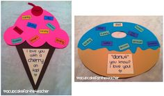 Mother's Day: to mom with a cherry on top Father's Day: A Donut for Dad I could totally make this work for artic. have them say words that describe their parents that have their target sounds in them! Holiday Activities, Craft Activities, Preschool Crafts, Crafts For Kids, Preschool Ideas, Craft Ideas, Daddy Day, Mom Day, Classroom Crafts