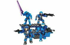 Halo Mega Bloks Exclusive Set #96962 Blue Team Combat Unit by Mega Brands. $19.99. 11 Set Juego Ensemble Conjunto. 41 pieces. Ages 4+. Choose Blue Team and conquer the battlefield with the Blue Team Combat Unit. Combined UNSC and Covenant Forces include a Blue Elite, Blue Spartan, and 2 Blue Marines with weaponry on special Blue Team bleacher blocks.