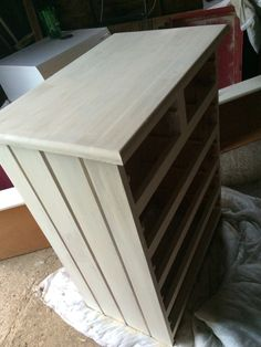 My shabby chic chest of drawers