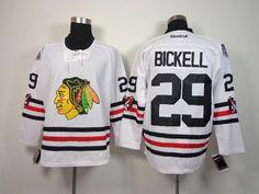 Chicago Blackhawks  29 Bryan Bickell 2015 Winter Classic White Jersey  Classic White e5bd0fb20