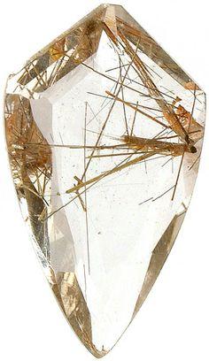 Rutilated quartz... good for deflecting negative energy and expediting progress. #gemstones