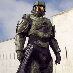 That modified Mk. VI is to die for. Video Game Movies, Video Game Characters, Video Games, Pc Games, Halo Game, Halo 3, Halo Cosplay, Cosplay Helmet, John 117